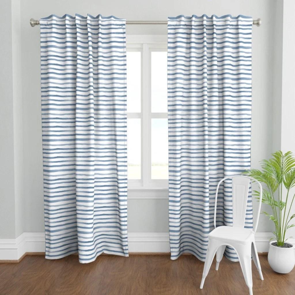 denim blue curtains etsy