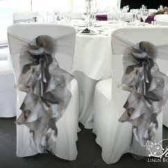 Chair Cover Christmas Decorations Arm With Ottoman Silver Sashes Set Of 6 Etsy Image 0