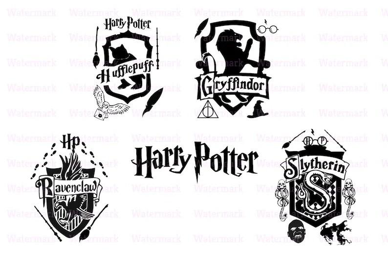 Harry Potter svg dxf png jpg eps cricut cut silhouette