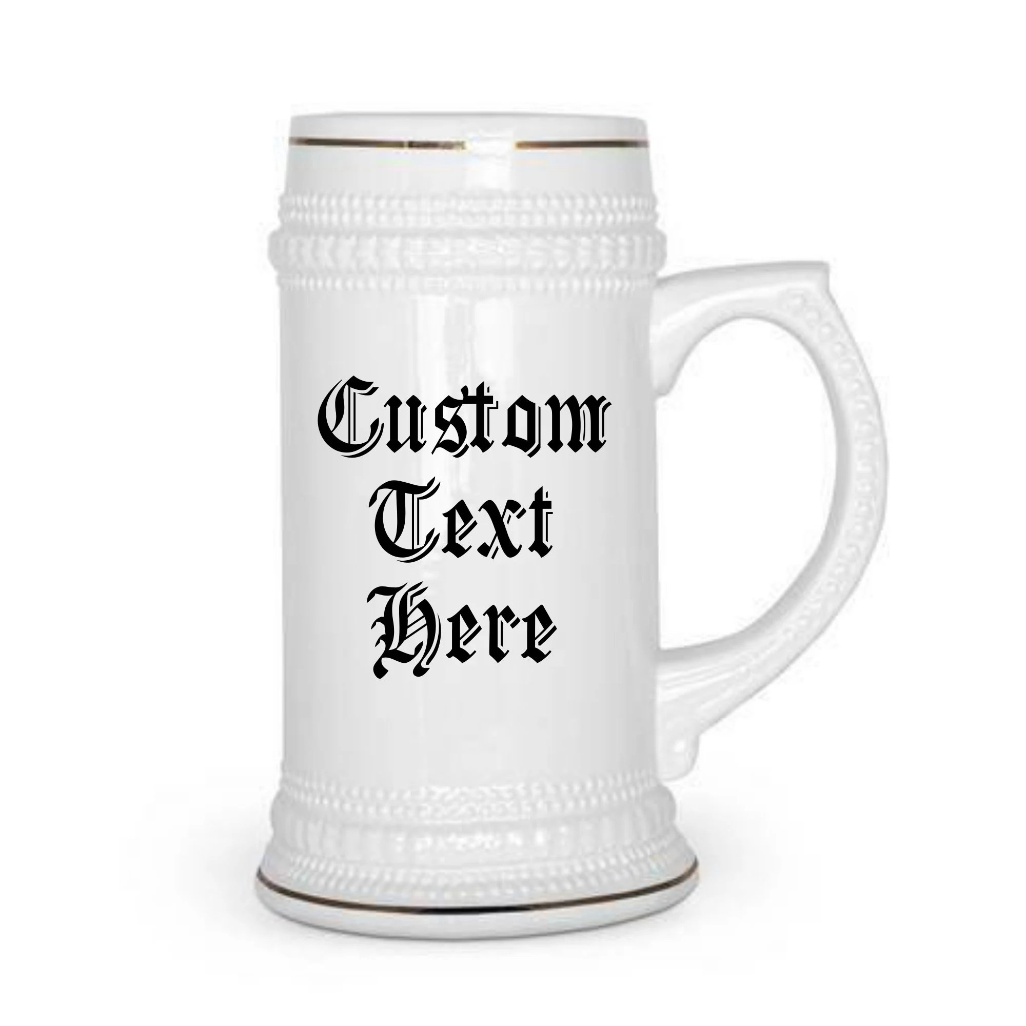 custom beer stein 22oz