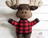 Moose Amigurumi Crochet Pattern