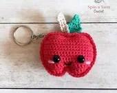 Kawaii Apple Keychain Crochet Pattern