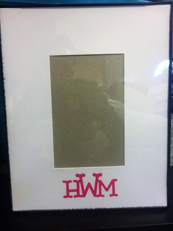 autograph monogram picture frame