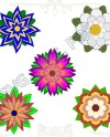 A Set Of 3d Template Svg Paper Flowers Set Wedding Etsy