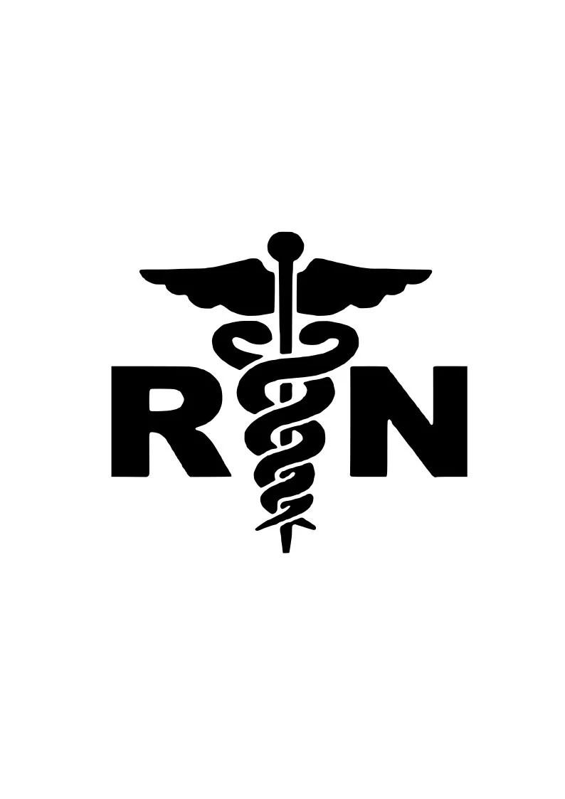 Registered Nurse RN svg outline laptop cup decal SVG