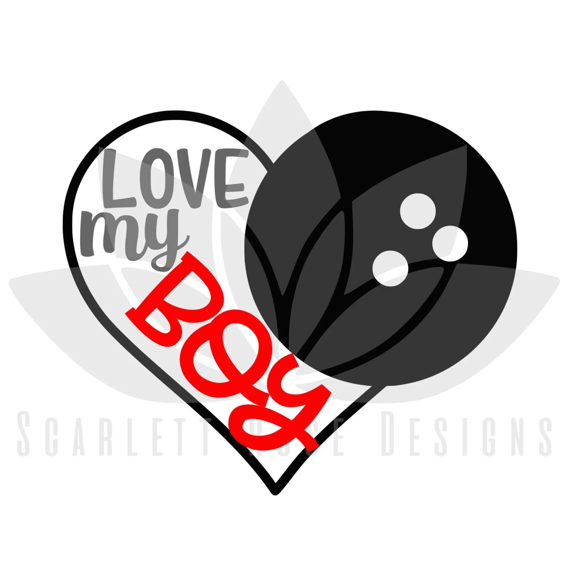 Download Bowling Heart Love my boy SVG cut file for silhouette ...