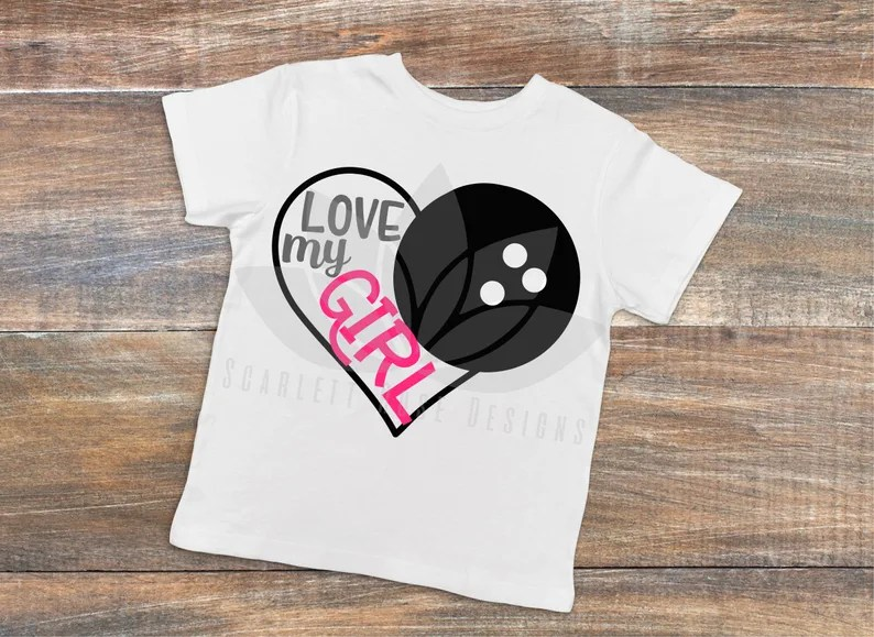 Download Bowling Love my Girl SVG cut file for silhouette cameo and ...