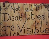 Not all disabilities are visible sign, Lichtenberged - large