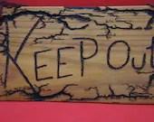 KEEP OUT! sign lichtenberg - medium