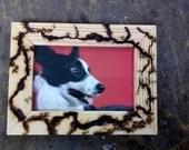 6x4 photo frame with Lichtenberg design