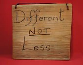 Different not less sign - large