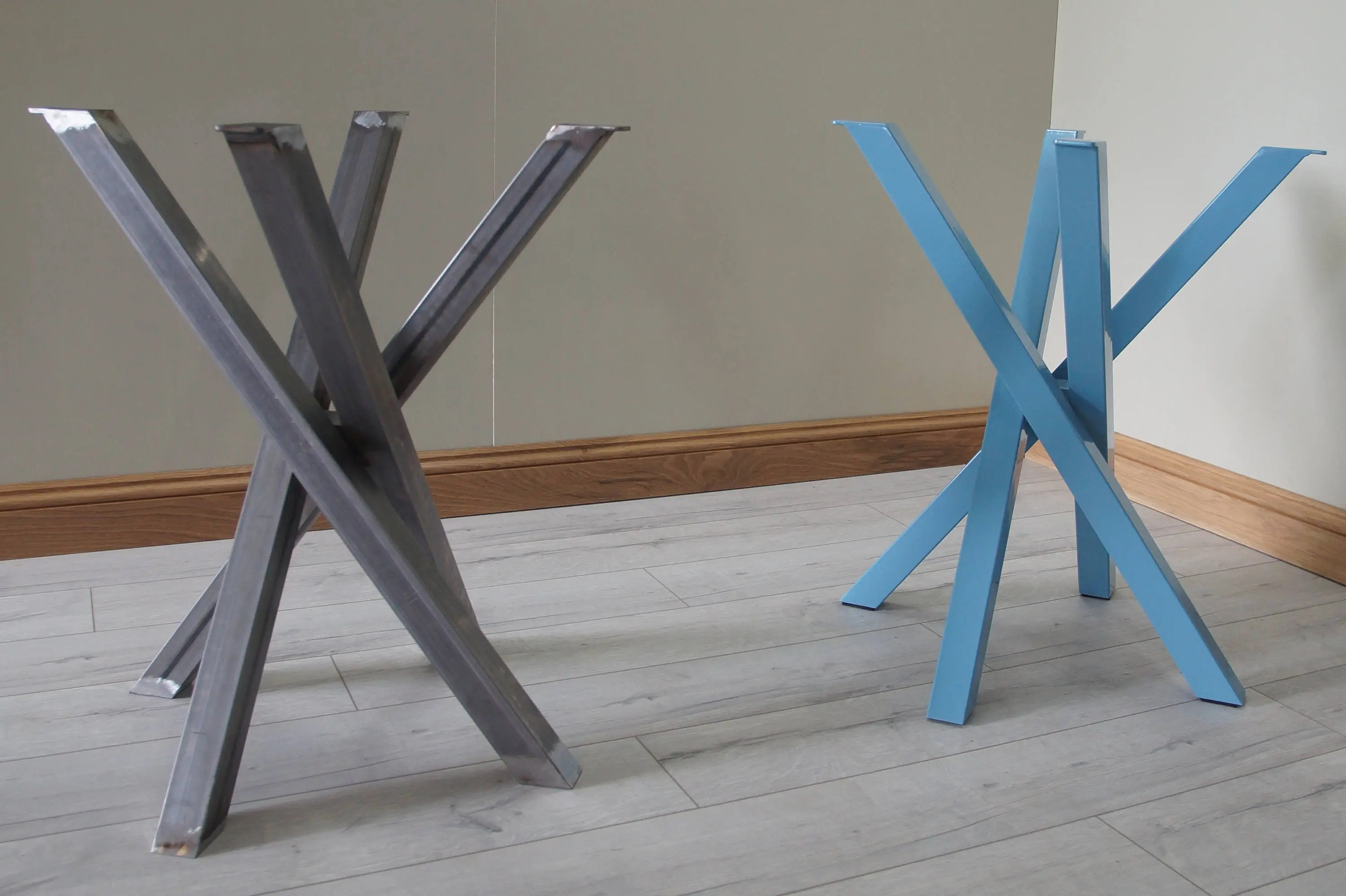 Funky Metal Steel Table Legs For Round / Square Shaped