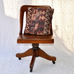 Wooden Library Chair With Kneeler High Point Co Solid Oak Captain S Etsy 50