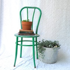 Green Metal Bistro Chairs Swing Chair Youtube Rustic Cafe Distressed Etsy Image 0