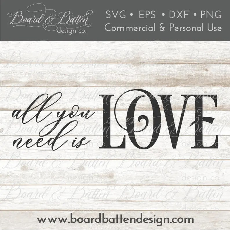 Download Romantic SVG Files All You Need Is Love SVG for Silhouette ...