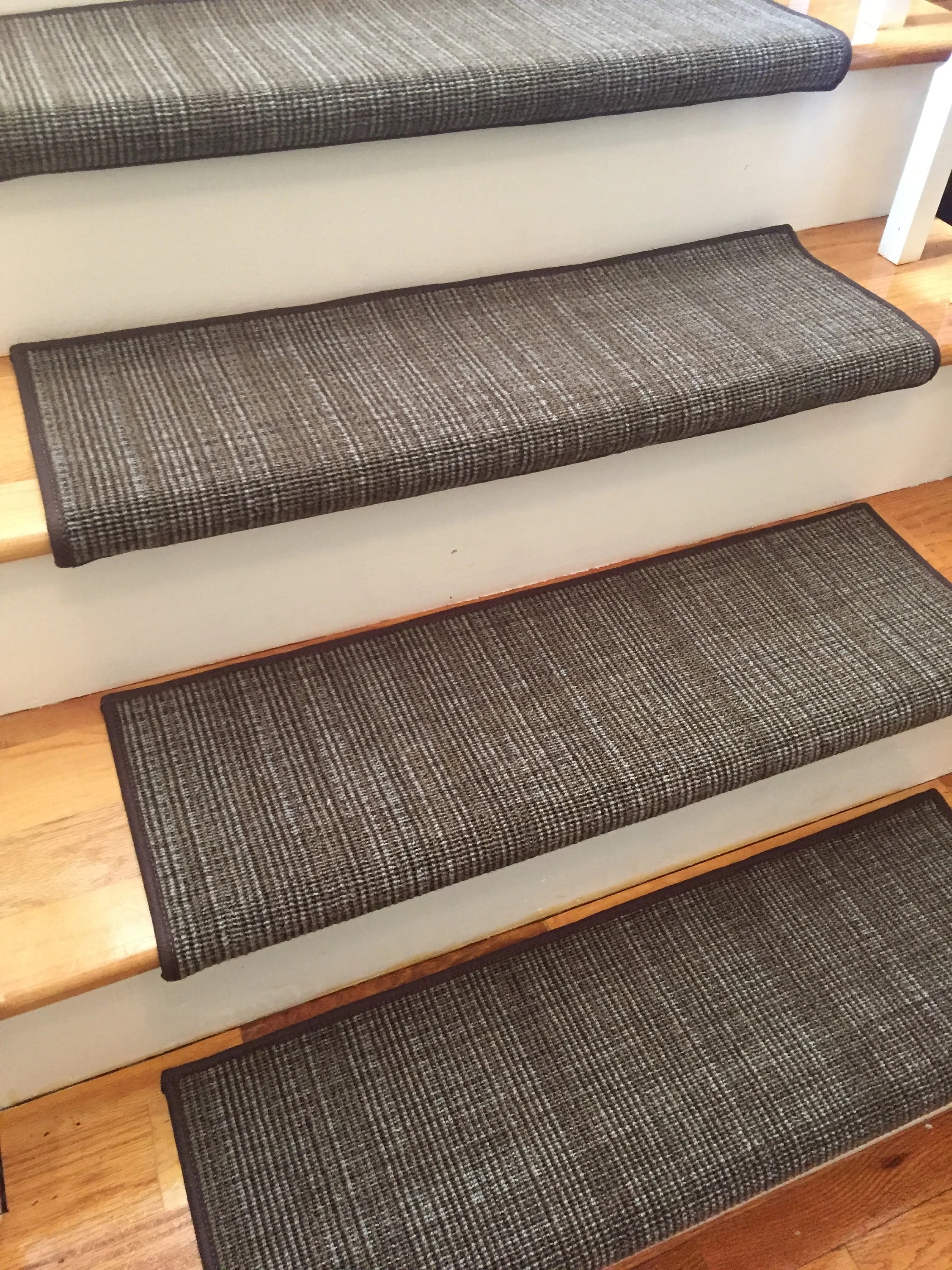 Traverse Earth And Other Colors True Bullnose™ Padded Carpet | Padded Carpet Stair Treads | Stair Risers | Adhesive Padding | Bullnose Padded | Staircase Makeover | Flooring
