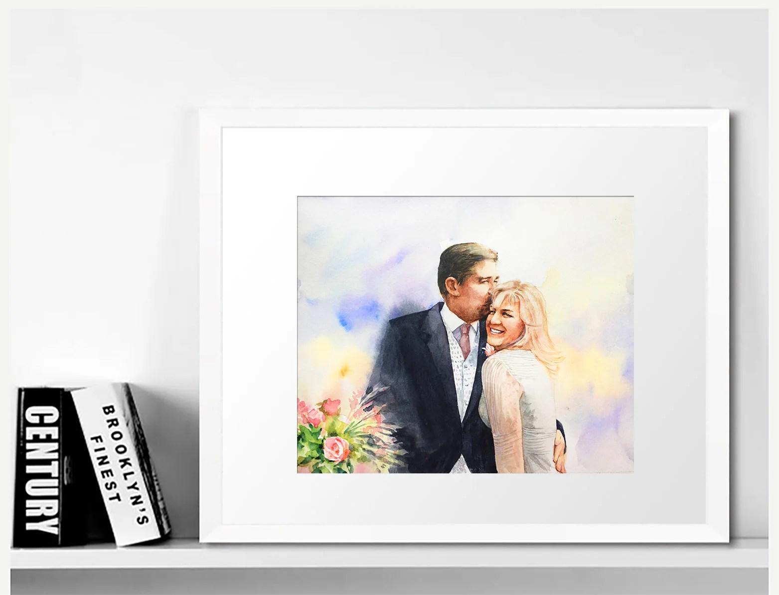 Handmade Custom Couple Portrait family portrait wedding image 2