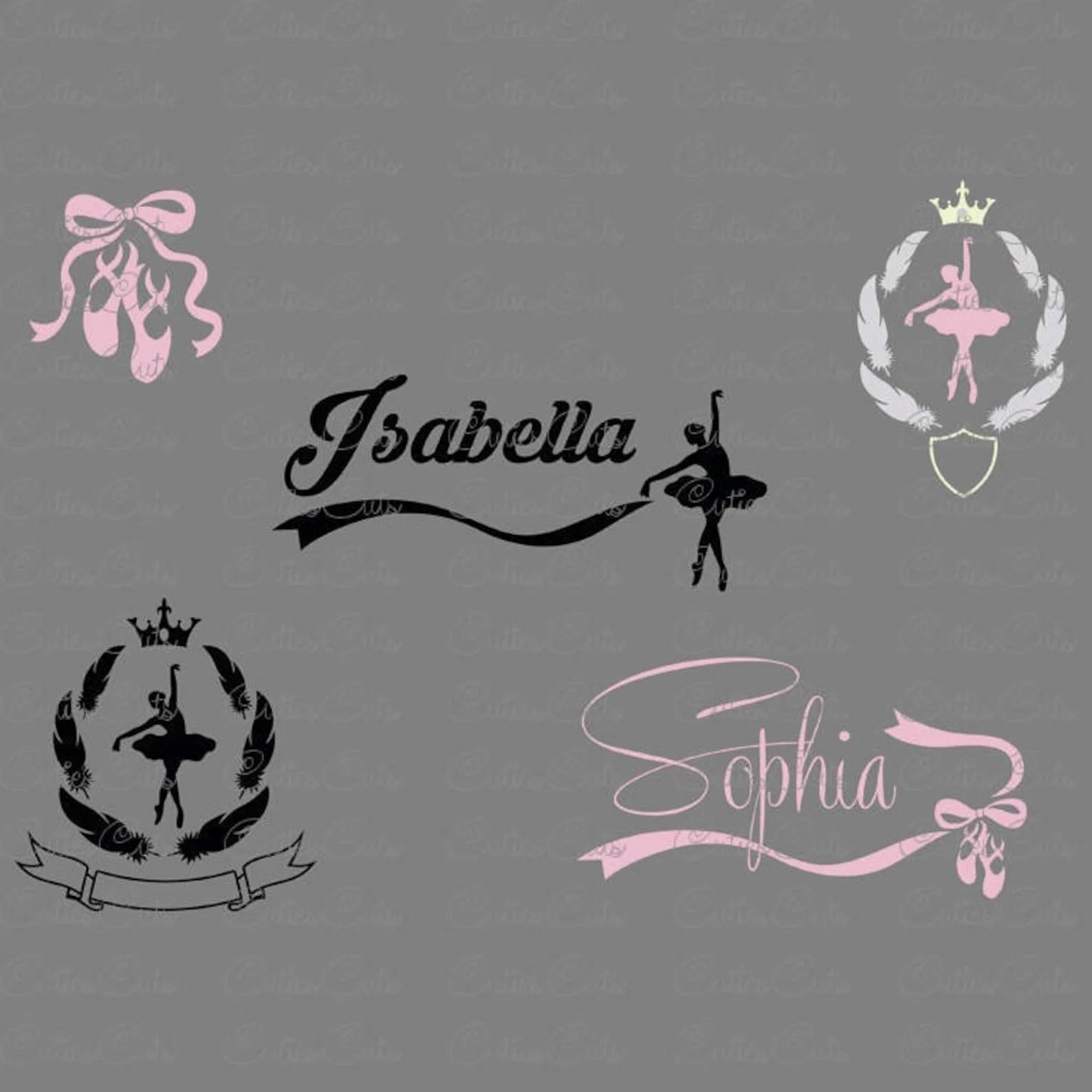 Ballet Svg Ballerina Silhouette Dxf Eps Files Vector
