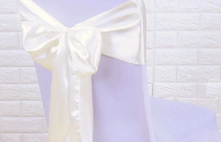 white chair sashes monsters inc 50 wedding diy satin etsy image 0
