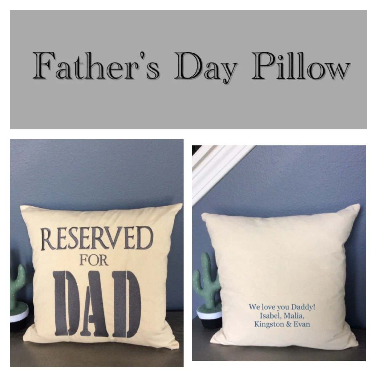 fathers day pillow reserved