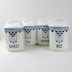 Canisters Kitchen Small Tv Ceramic Etsy Vintage Porcelain Storage