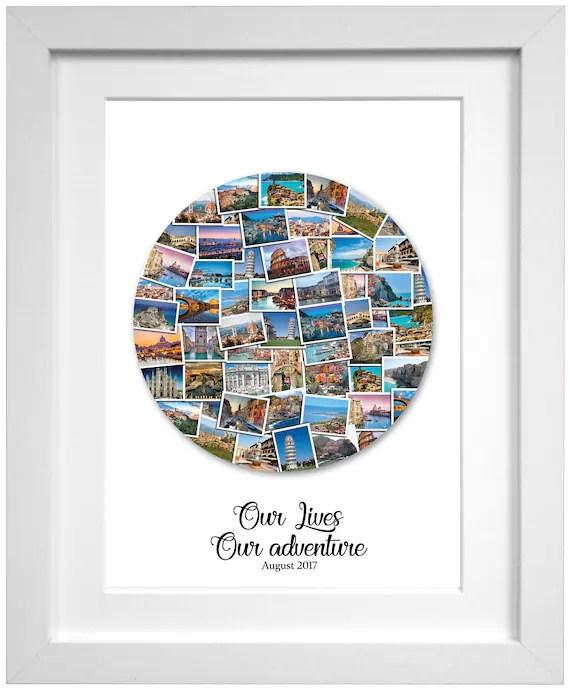 Circle Collage : circle, collage, Circle, Destination, Photo, Collage, Round, Travel