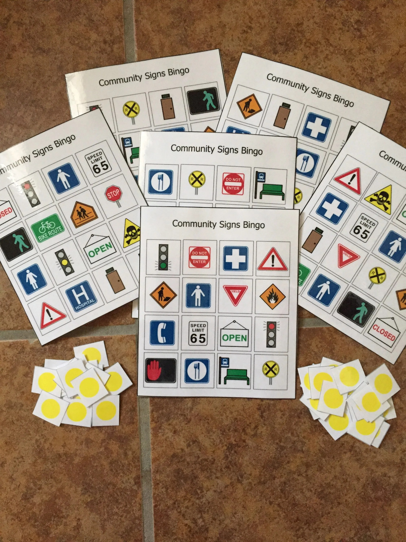 Community Safety Signs Bingo Social Skills Life Skills