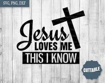 Download Jesus loves me svg | Etsy