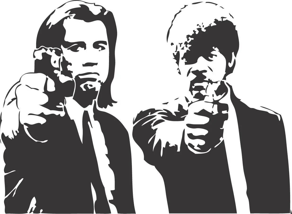 Pulp Fiction Movie Film Wall Art Decal Poster Samuel L Jackson Etsy