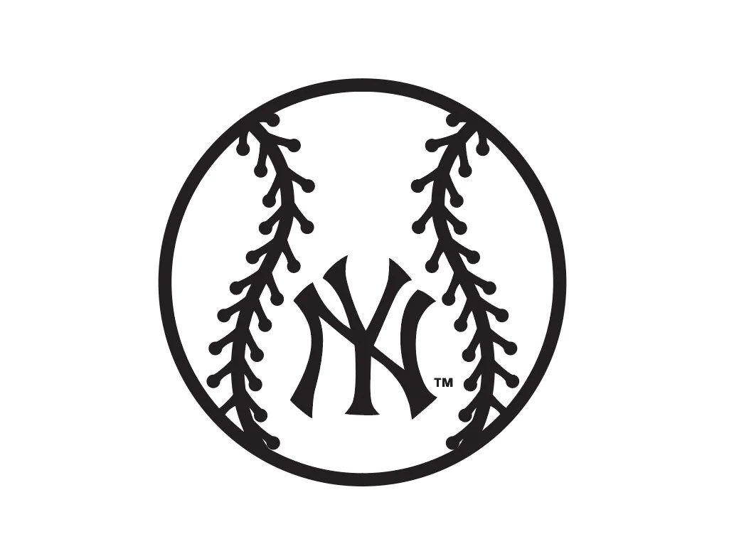 New York Yankees Baseball Logo Svg Silhouette Cut Filefor