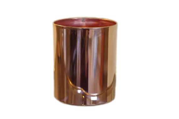 copper kitchen utensil holder wall pictures for decoration crock etsy