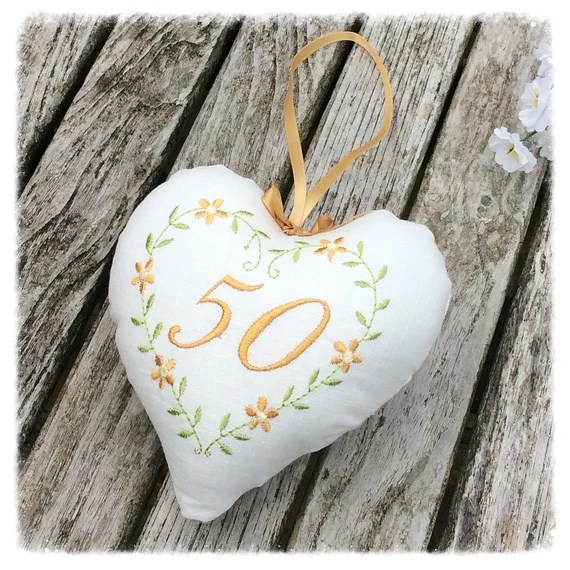 50th Anniversary Heart Decoration