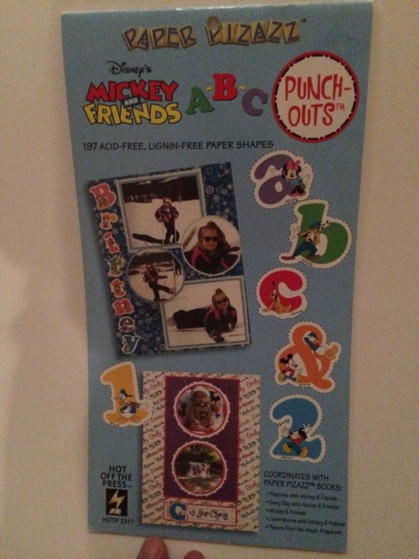 Paper Pizzazz Punch Outs Disney' Mickey And Friends
