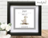 Pebble Art DOG or CAT BEREAVEMENT Gift. Personalised Handmade & Framed to Order • 2 Sizes | Sea Glass | Favourite Hello Hardest Goodbye