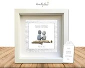 Pebble Art MAKING MEMORIES Personalised Gift. Picture Handmade and Framed to Order. Sea Glass • Birthday • Valentine • Friends • Options