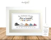 CONVERSE Boot Personalised Picture Gift. All Star Trainers Framed Art • Wedding, Engagement, Birthday, Family • Options Available