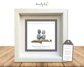 Pebble Art TOGETHER FOREVER Boyfriend Girlfriend Partner Love Gift. Personalised Picture Handmade and Framed to Order. Sea Glass • Options