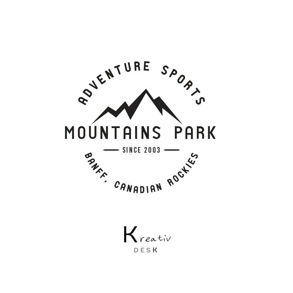 Mountain Logo. Sport Logo Design. Adventure Logo. Vintage