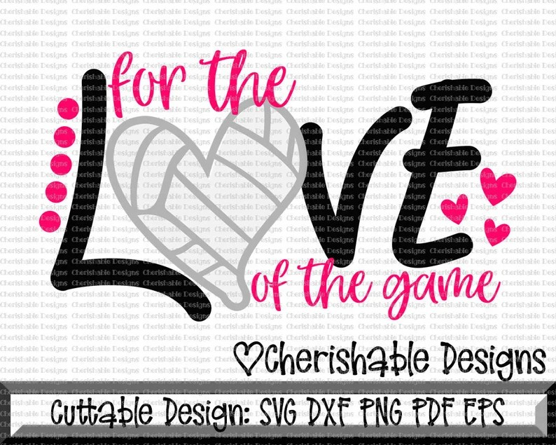 Download Volleyball Svg For the Love of the Game svg Volleyball Mom ...