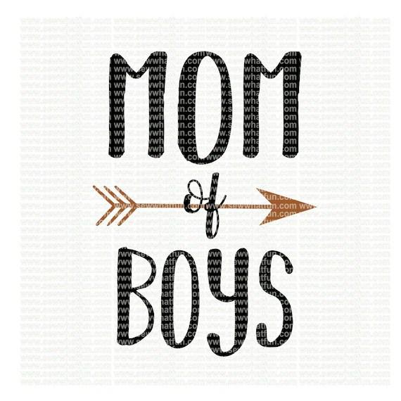 Download Mom of boys SVG cutting file vinyl file svg svg file | Etsy