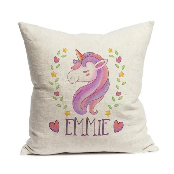Personalised Unicorn Cushion