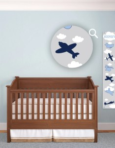 Growth chart for boys kids room wall decor blue airplanes custom hanging children   personalized kid plane bedroom also etsy rh