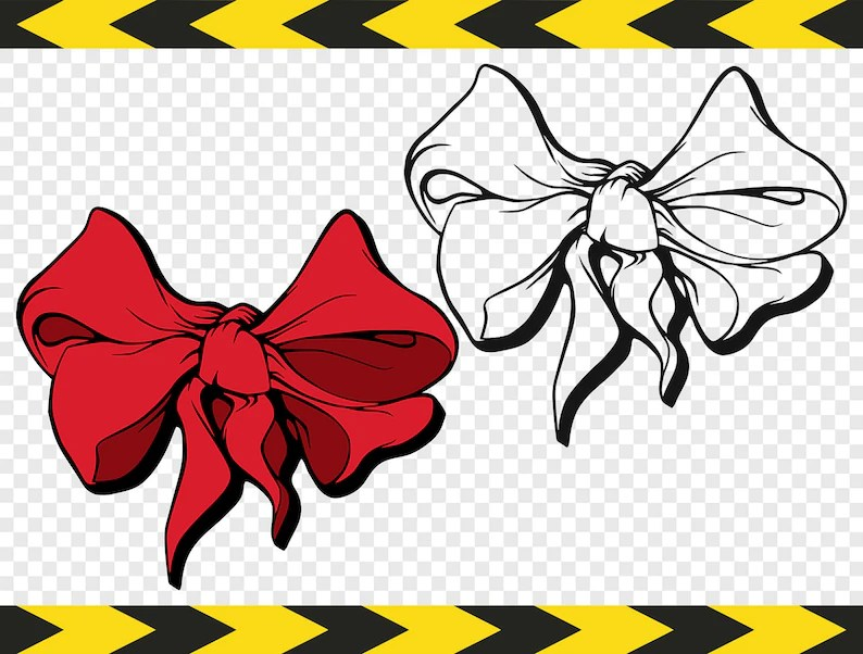 Download Hair bow SVG Clipart Files for Silhouette Cricut DIY Decal ...