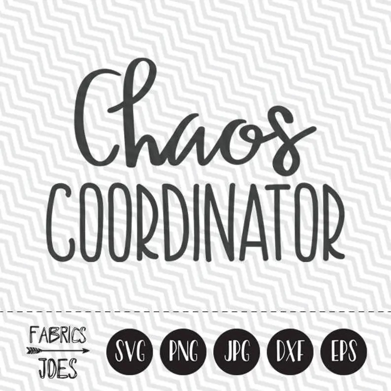 Download Chaos Coordinator svg Clipart in EPS DXF SVG Cricut &   Etsy