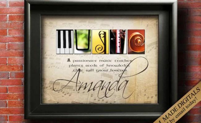 Music Teacher Gift Piano Teacher Gift Music Gift Guitar Etsy