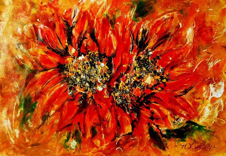 abstract printable flowers art