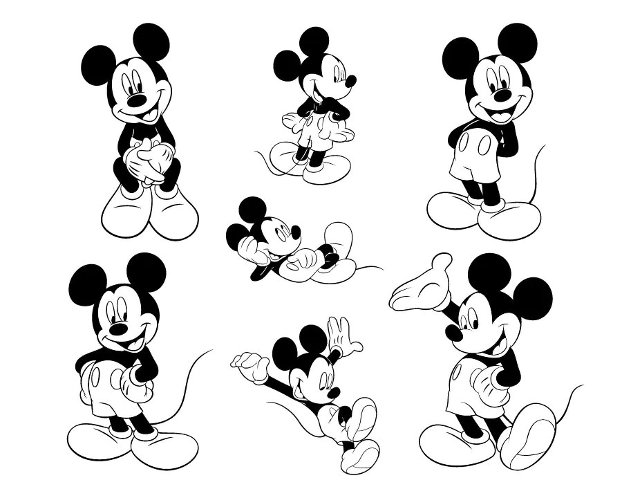 Download Mickey Mouse SVG Files Mickey Mouse Cutting Files Mickey ...