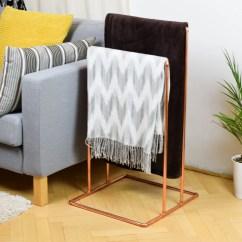 Living Room Blanket Holder Interior Designs In India Copper Stand Towel Rack Etsy Image 0