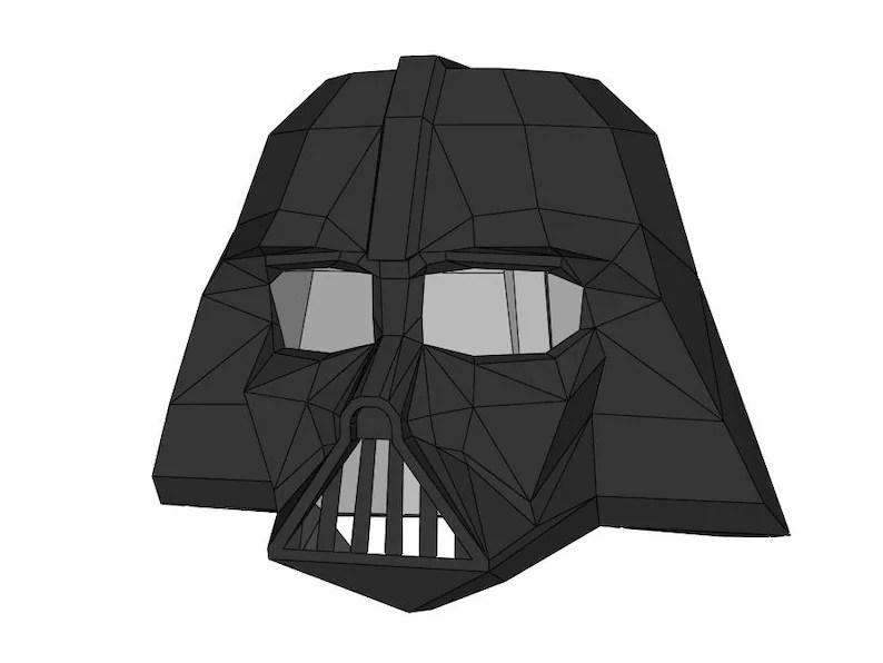 darth vader helmet template