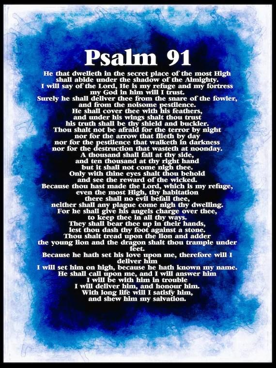 Psalm 91 Picture : psalm, picture, Psalm, Poster., DIGITAL, DOWNLOAD., PRINTABLE